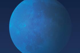 قمر ازرق في السماء غداً الجمعة