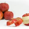 قشر التفاح والتنحيف